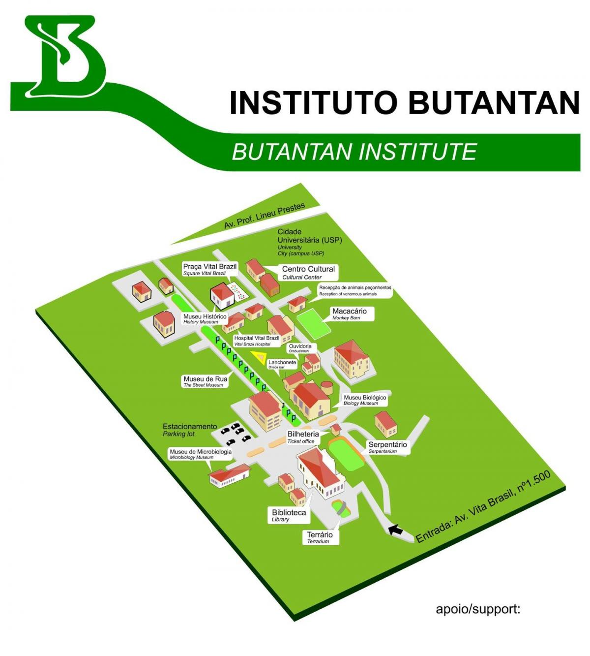 Karta instituta Butantan
